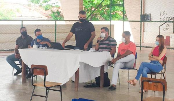 Imagens da Reunião de Retorno Escolar com motoristas do ensino municipal.