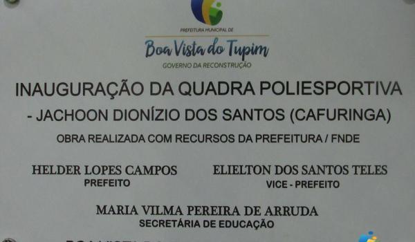 Imagens da Prefeitura inaugura quadra poliesportiva no Povoado de Terra Boa