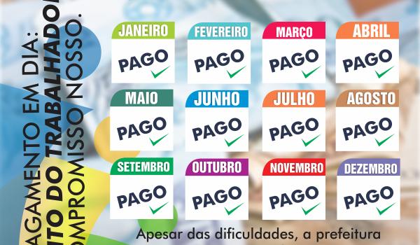 Imagens da Prefeitura de Boa Vista do Tupim-BA, antecipa pagamento de terço de férias dos professores da rede municipal