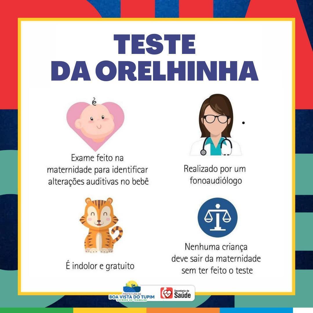 Teste da Orelhinha e Teste da Linguinha
